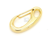 CRAFTMEmore Carabiner Hooks Paracord Camping Accessories D-Type Spring Push Gate Snap 48 X 22 MM