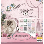 Ultimate Crafts Magnolia Lane 180gsm 30cm x 30cm Paper Pad 24 DS Sheets
