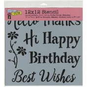 Crafter's Workshop Template 30cm x 30cm -Happy Greetings