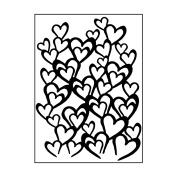 Carabelle Studio AE60015 Embossing Folder - Envolée de cœurs
