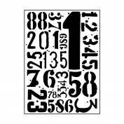 Carabelle Studio AE60002 Embossing Folder - Chiffres (Numbers) Grunge