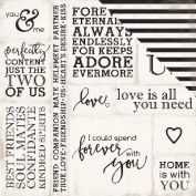Wedding Bliss Double-Sided Cardstock 30cm x 30cm -Loving Words