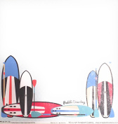 Paddle Boards & Stripes 30cm x 30cm Double-Sided Scrapbook Paper - 1 Sheet