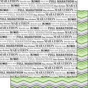 Full Marathon & Green Chevron 30cm x 30cm Double-Sided Scrapbook Paper - 1 Sheet