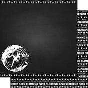 Rock Climbing Chalkboard 30cm x 30cm Double-Sided Scrapbook Paper - 1 Sheet