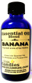 Bananas 4oz / 118.29ml Blue GLASS Bottle of Premium Grade A Essential Oil / Fragrance Oil Blend, Skin Safe Oil, Use in Candles, Soap, Lotions, Etc
