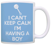 Mom To Be Gift New Mom Can't Keep Calm I'm Having a Boy Pregnancy Gift Coffee Mug Tea Cup Blue