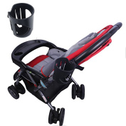 Cup Holder For Stroller - Universal Designed Drink Holder Fit All Strollers, Holds Bottles, Cans, Cups, And Snack Containers. The Best Stroller Cup Holder Attachment For Today's Strollers