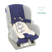 Lucky Baby's Cooler for Baby Strollers & Carseats. Keep Baby Cool in Summer when you're out. Easily Attaches to Car Seats, Strollers, or use as a Backpack. Grey Light