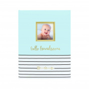 Pearhead Hello Handsome Keepsake Baby Memory Book and Photo Journal, Blue