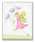 The Kids Room by Stupell Fairy Princess with Daisies Rectangle Wall Plaque
