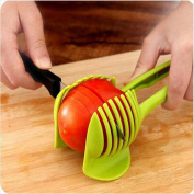 Best Utensils Tomato Slicer Lemon Cutter Multipurpose Handheld Round Fruit Tongs ABS Plastic Onion Holder Easy Slicing Fruits & Vegetable Tools Kitchen Cutting Aid Gadgets Tool