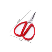 Mimgo Stainless Steel Red Scissors Cutter, Durable Sharp Cutting Shear Embroidery Sewing Tool for Home Office Kitchen Craft Cutting #4