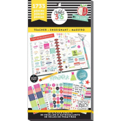 me & my BIG ideas PPSV-14 Create 365 The Happy Planner Sticker Value Pack Planner, Big Teacher