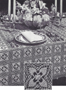 Vintage Crochet PATTERN to make Pineapple Motif Tablecloth.