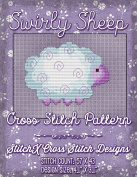Swirly Sheep Cross Stitch Pattern - Cute Baby Sheep - Purple Design