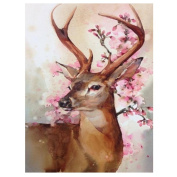 Blxecky 5D DIY Diamond Painting By Number Kits,Happy deer