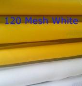 White 3 Yards 130cm (1.27m) Wide 120 Mesh(48T) Silk Screen Printing