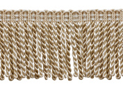 7.6cm Long Bullion Fringe Trim, Style# DB3 - Ivory, Light Beige - White Sands 4001