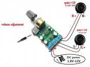 Winwill DC1.8-12V TDA2822M Amplifier 2.0 Channel Stereo AUX Audio Amp Board Module