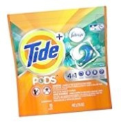 Tide Pods + Febreze 4 In 1 Odour Defence Laundry Detergent Botanical Rain Scent 15ct Pack