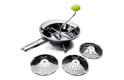 "ibili ""Clasica"" Food Mill Set with 3 Sieves, Silver, 24 cm"