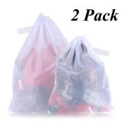 SATMON Delicate Fine Mesh Laundry Wash Bags Reusable Washing Organiser for Socks, Tights, Lingerie, Sweater, Bras,Travel Bag