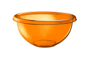 Guzzini Happy Hour 22 cm Salad Bowl, Orange