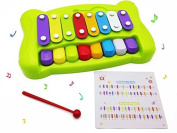 Beby 2-in-1 Xylophone and Piano Musical Instruments Toys with Beaters and Song Sheets for Baby Kids Toddlers by Beby