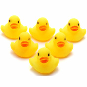 GaoCold Lot 1/5/10/20Pcs Yellow Baby Children Bath Toys Cute Squeaky Rubber Duck