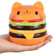 Jumbo Slow Rising squishies Kawaii Cat Hamburger Cream Scented Stress Relief large Kawaii Squishy as Collection Gift Toy