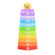Rainbow Stacking Cups for Baby Early Development Learning Toys