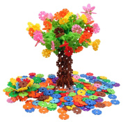 Brain Flakes 500 Piece Interlocking Plastic Disc Set | A Creative and Educational Alternative to Lego Building Blocks | Tested for Children's Safety | A Great STEM Toy for Both Boys and Girls!