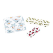 IKEA TRYGGHET Children's Plasters with Animal Print - 16 Small (19 x 56 mm), 14 Medium (25 x 72 mm) and 10 Large