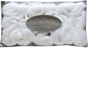 Pearl Infused Fibre for Spinning Blending Dyeing Felting and Fibre Arts. White Super Soft Combed Top.