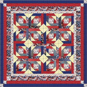 Quilt Kit Patriotic Fouth of July, Red White and Blue