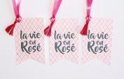 La Vie En Rosé Wine Tag