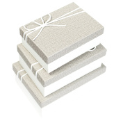 Ikee Design Nesting Gift Rectangle Boxes with Lids 3 Assorted Sizes Ready for Gift Giving