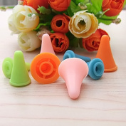 Kangkang@ 20 Pcs Rubber Cone Shape Knit Knitting Needles Cap Tips Point Protectors in 2 Sizes for Knitting Craft Random Colour