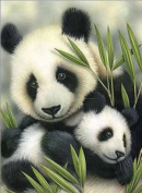 ESOOR 5D DIY Diamond Painting, Cross Stitch DIY Diamond Painting Kits Arts Panda 30cm X 30cm