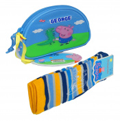 Peppa Pig Kids Purse With Socks,Peppa Pig Coin Pouch,Original,Official Licenced!