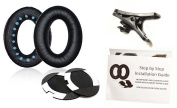 Replacement Bose Soft Earpad Ear Cushions+Pads+Shirt Clip+Guide Pictures for QuietComfort 2 QC2, QuietComfort 15 QC15,QuietComfort 25 QC25 35 QC35,SoundTrue,AE2 Headset Headphone Cable Cord Clip