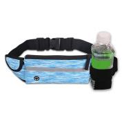 Running Belt Pack Sports Running Waist Pack Belt Pouch, Outdoor Sweatproof Reflective Running Gear Bag ,with Water Bottle Holder,for Men Women during Workouts, Fitness, Cycling, Hiking