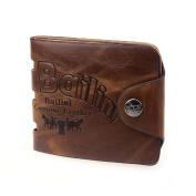 Tootu Mens Genuine Leather Bifold Wallet Credit ID Card Holder Slim Purse