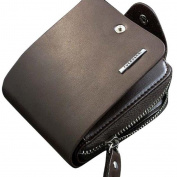 Tootu Mens Leather ID Card Holder Billfold Zip Purse Wallet Handbag Clutch