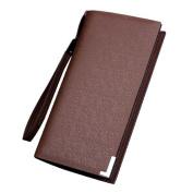 Tootu Luxury Men Leather Card Cash Receipt Holder Organiser Bifold Wallet Purse