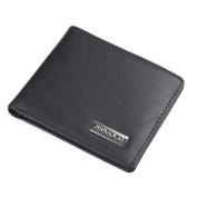 Tootu Bifold Wallet Men Leather Black Credit/ID Card Holder Billfold Purse Wallet