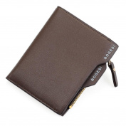 Tootu Mens Leather ID credit Card holder Clutch Bifold Coin Purse Wallet