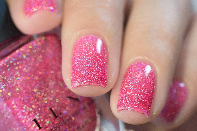 Misbehaving - Vivid Neon Pink Holographic Sheer Jelly Nail Polish ...
