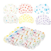 Shower Caps, Pack of 36 - Hair Caps - Processing Caps | Floral - Bowknot - Polka Dot Patterns